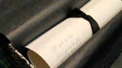 Sarah Manton - Nottingham Lace Design Scroll (Georgina Wilding Poem)